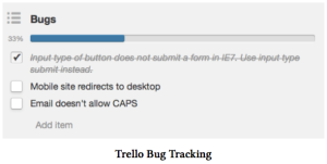 trello bug tracking